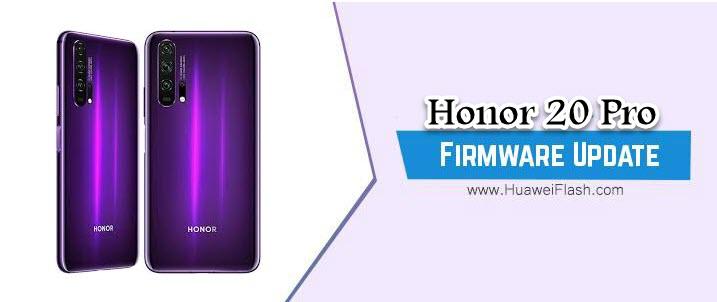 Huawei Honor 20 Pro Stock Firmware
