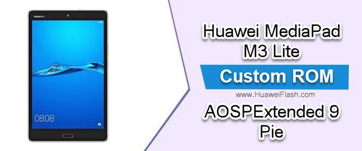 AOSPExtended 9 Pie on Huawei MediaPad M3 Lite